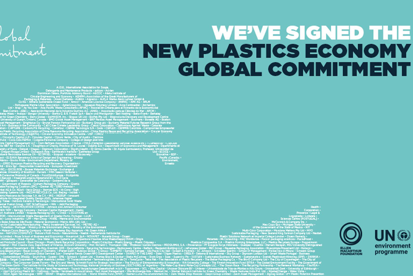 We've Signed the New Plastics Economy Global Commitment
